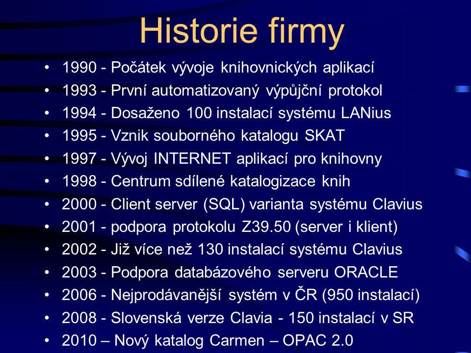 Historie firmy 1990 - Počátek vývoje knihovnických aplikací
