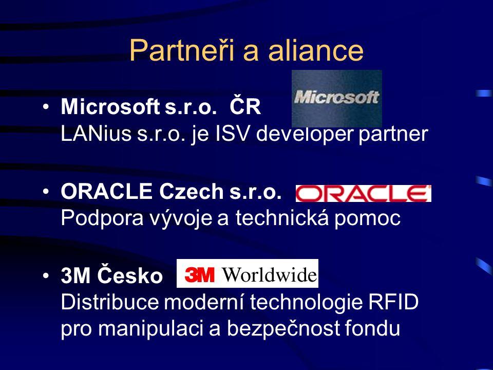 Partneři a aliance Microsoft s.r.o. ČR LANius s.r.o. je ISV developer partner. ORACLE Czech s.r.o. Podpora vývoje a technická pomoc.