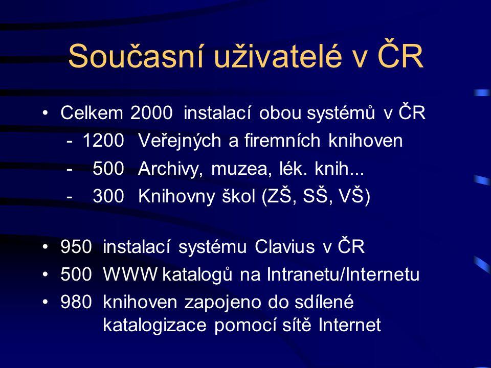 Současní uživatelé v ČR