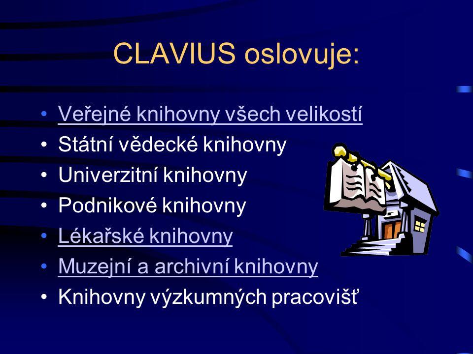 CLAVIUS oslovuje: Veřejné knihovny všech velikostí