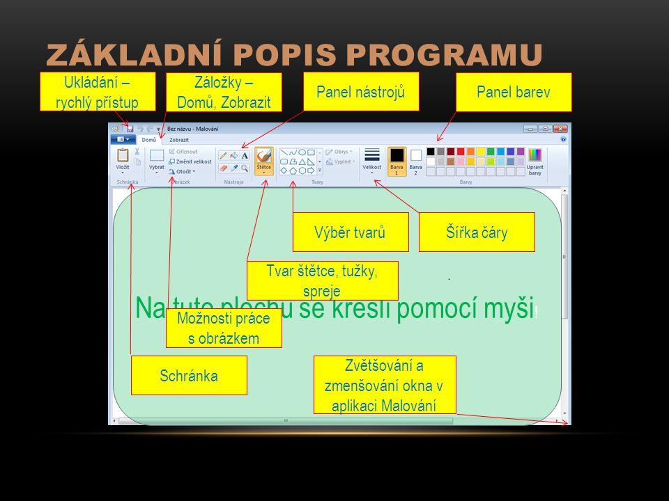 Základní popis programu