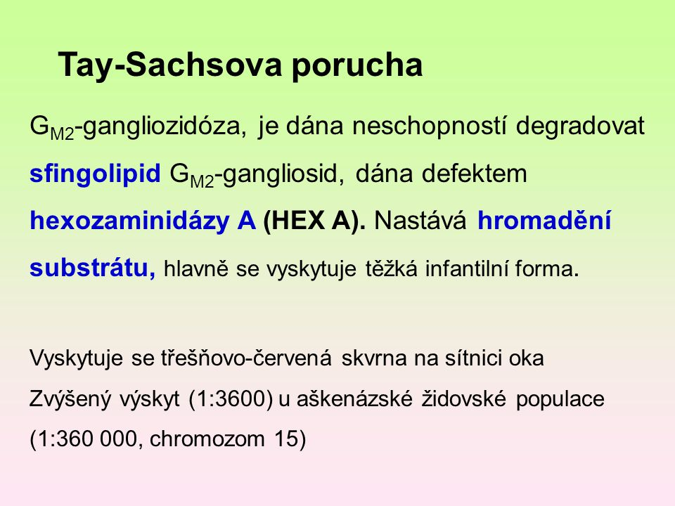 Tay-Sachsova porucha