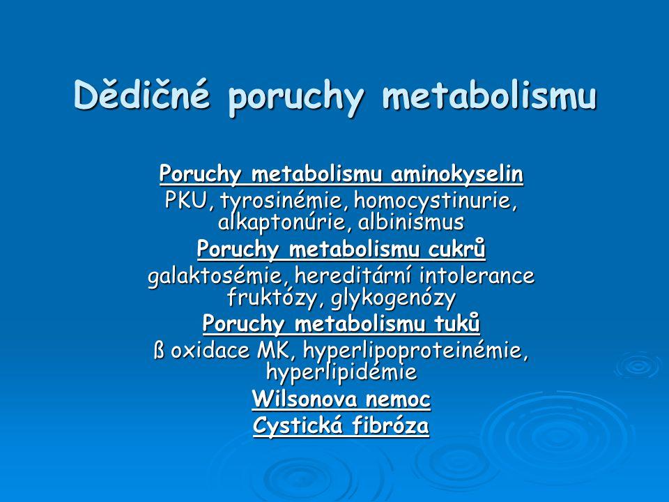 Dědičné poruchy metabolismu