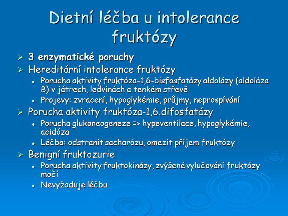 Dietní léčba u intolerance fruktózy