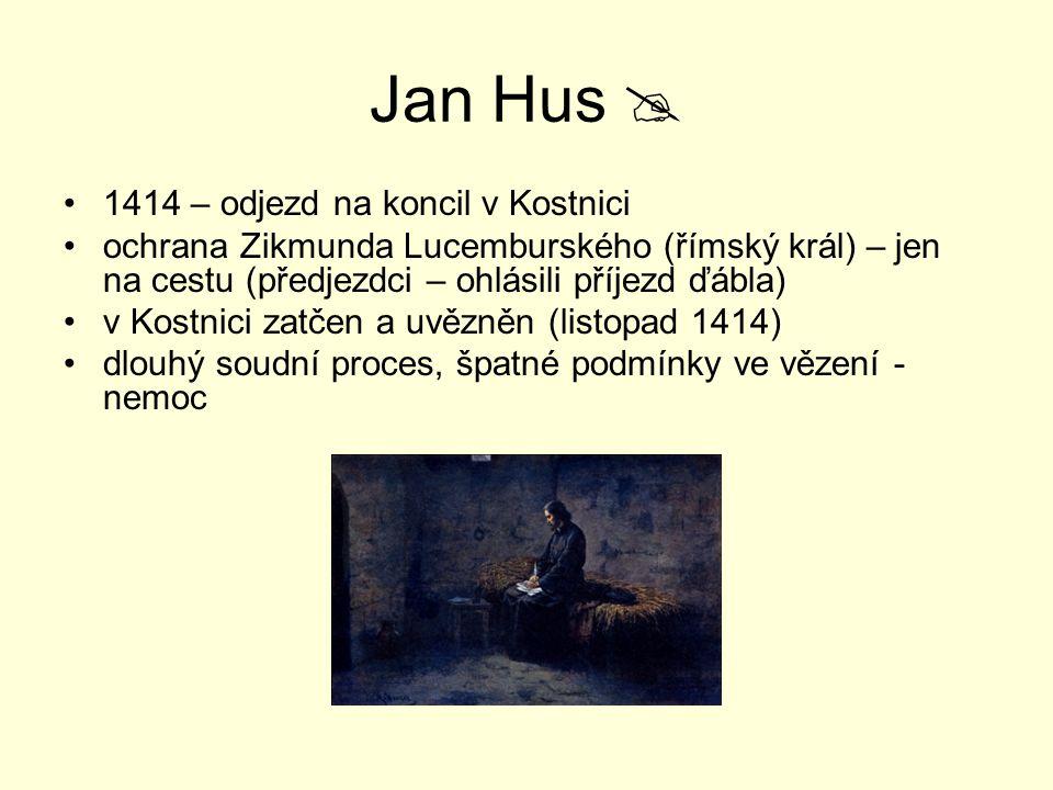 Jan Hus  1414 – odjezd na koncil v Kostnici