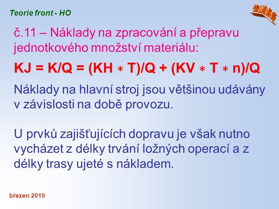 KJ = K/Q = (KH ∗ T)/Q + (KV ∗ T ∗ n)/Q