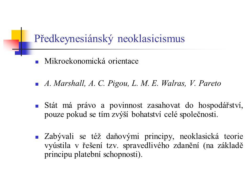 Předkeynesiánský neoklasicismus