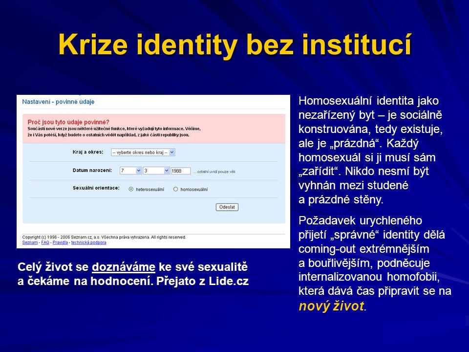 Krize identity bez institucí