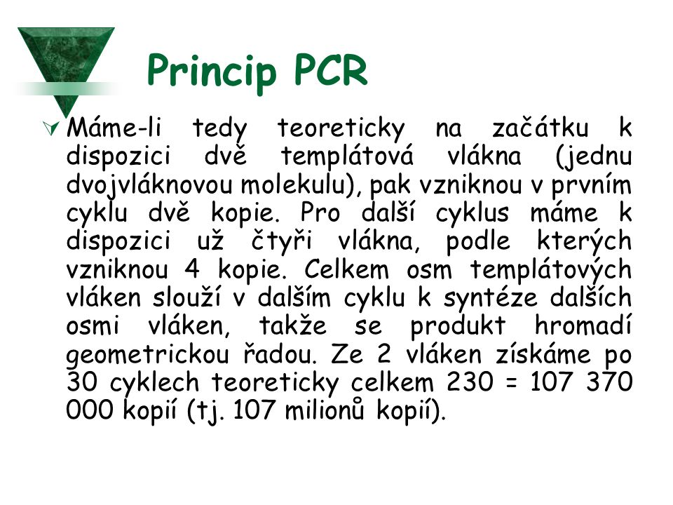 Princip PCR