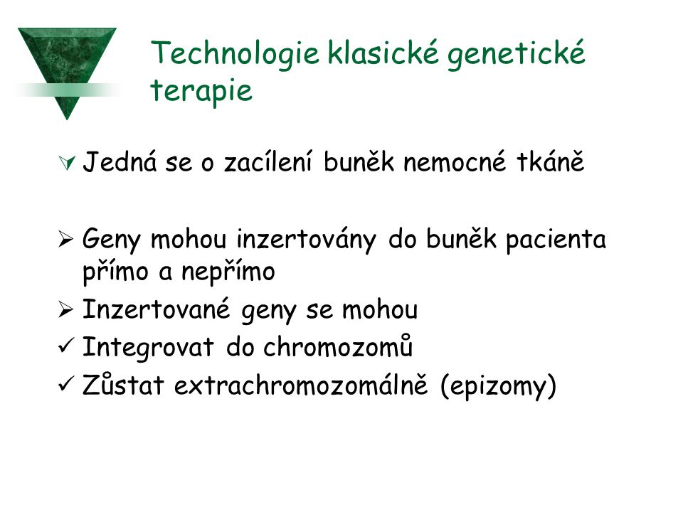 Technologie klasické genetické terapie