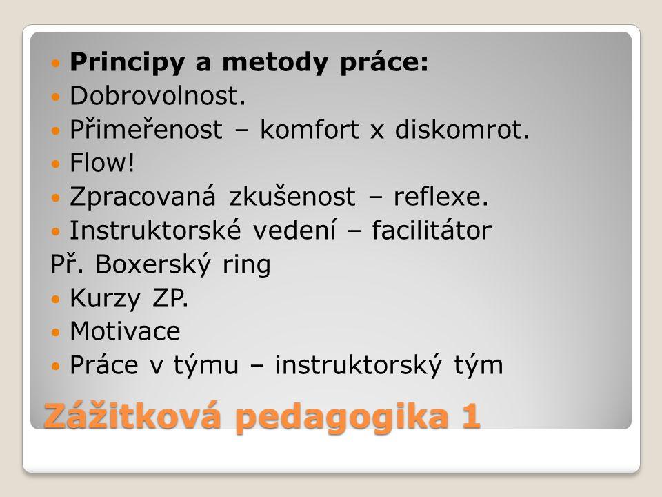 Zážitková pedagogika 1 Principy a metody práce: Dobrovolnost.