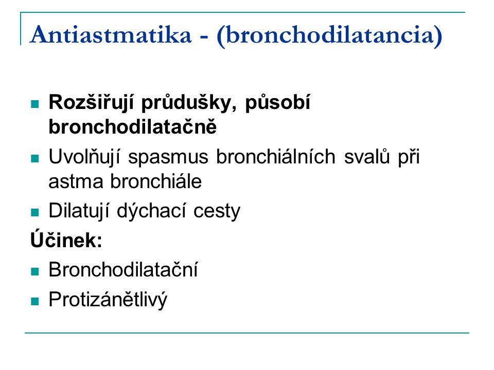 Antiastmatika - (bronchodilatancia)