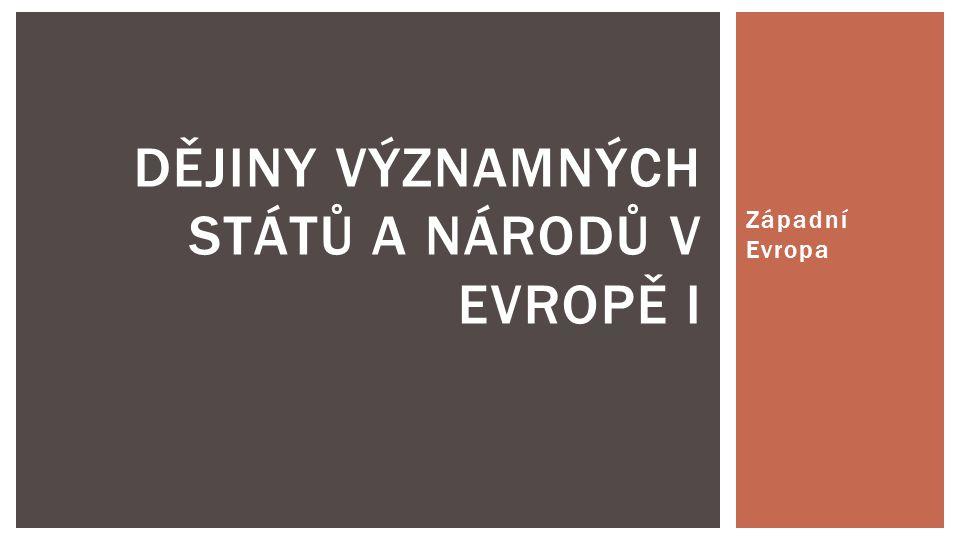 Dějiny významných států a národů v Evropě I