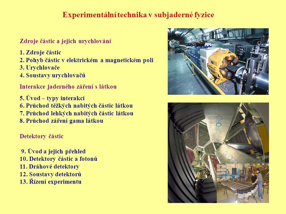 Experimentální technika v subjaderné fyzice