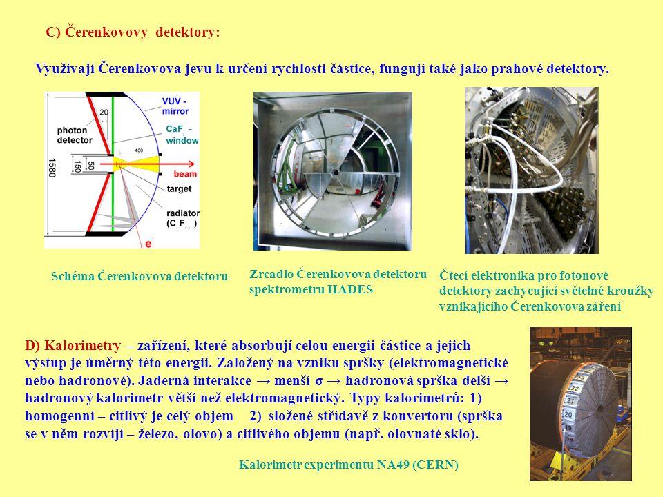 C) Čerenkovovy detektory: