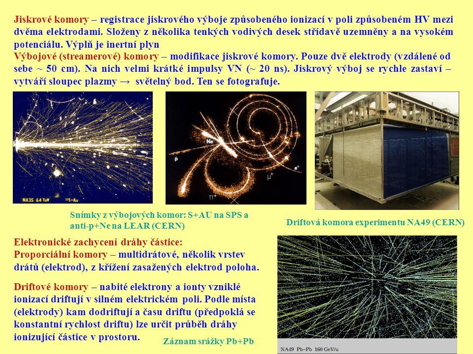 Elektronické zachycení dráhy částice: