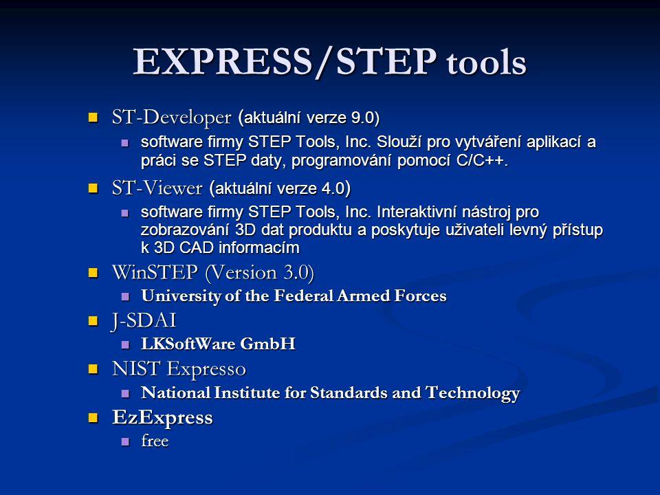 EXPRESS/STEP tools ST-Developer (aktuální verze 9.0)