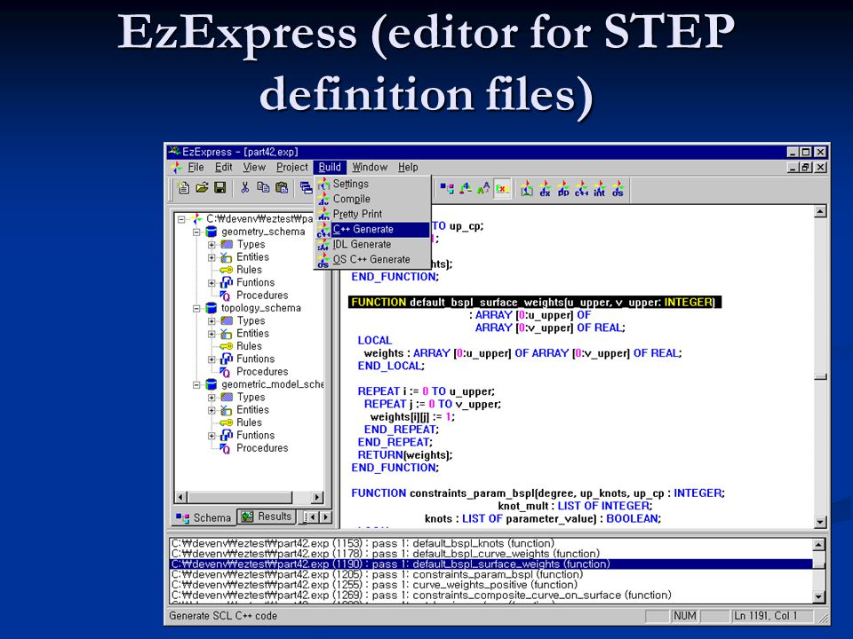 EzExpress (editor for STEP definition files)