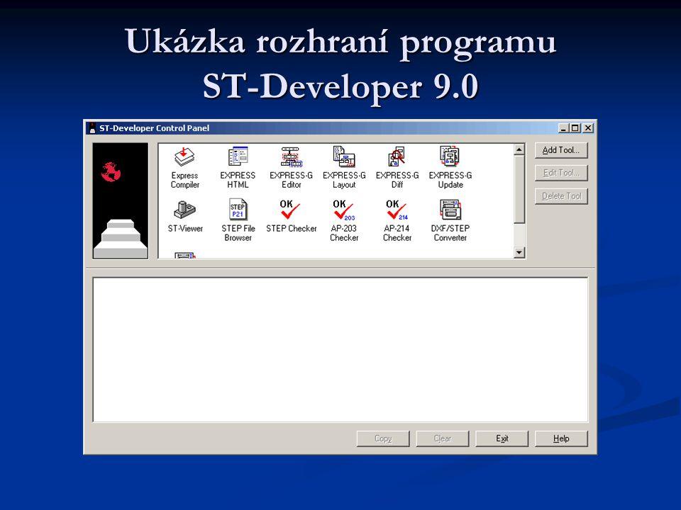 Ukázka rozhraní programu ST-Developer 9.0