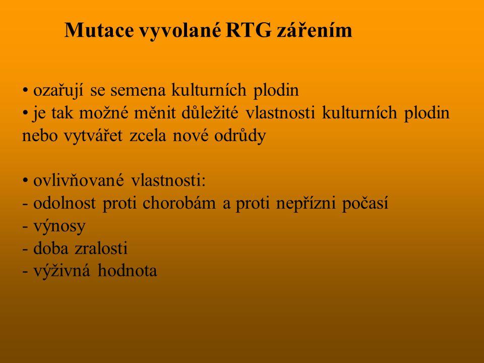 Mutace vyvolané RTG zářením