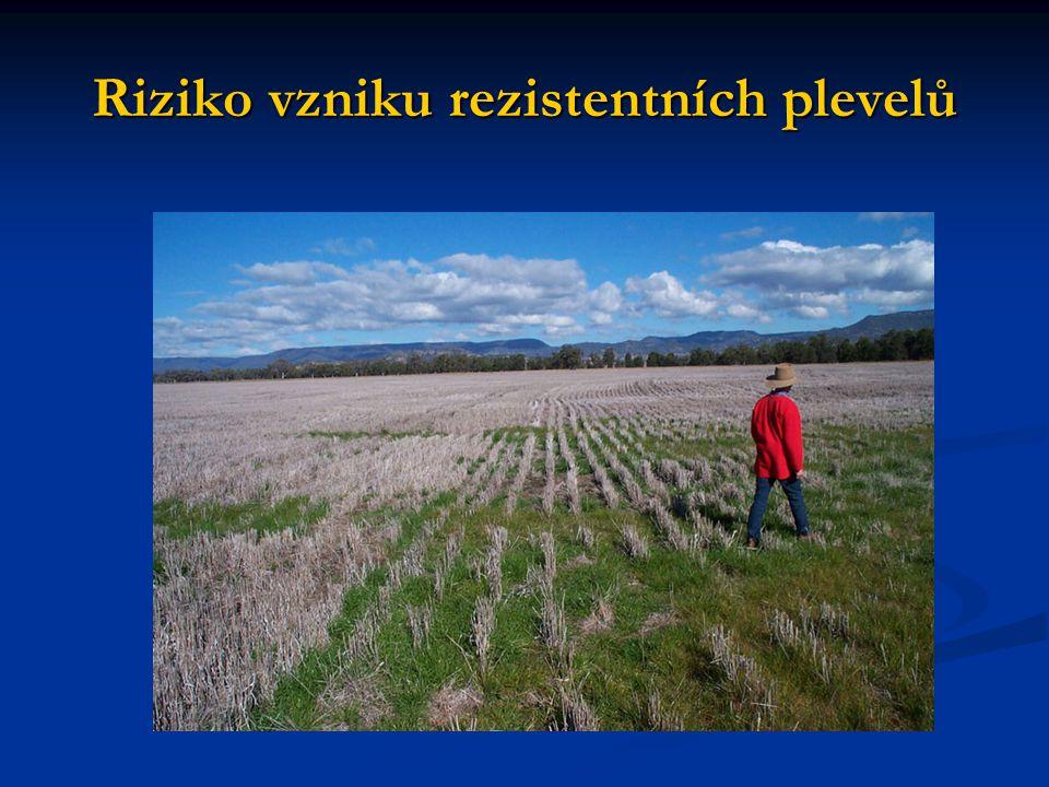 Riziko vzniku rezistentních plevelů