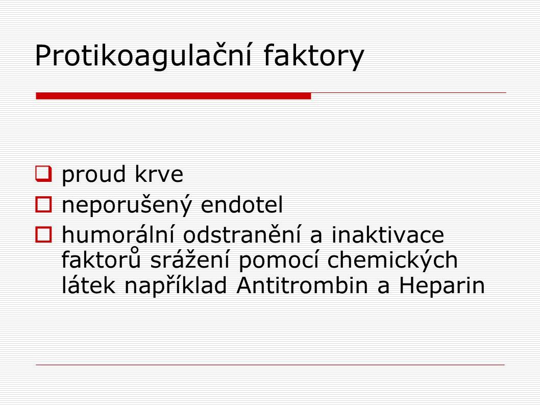 Protikoagulační faktory