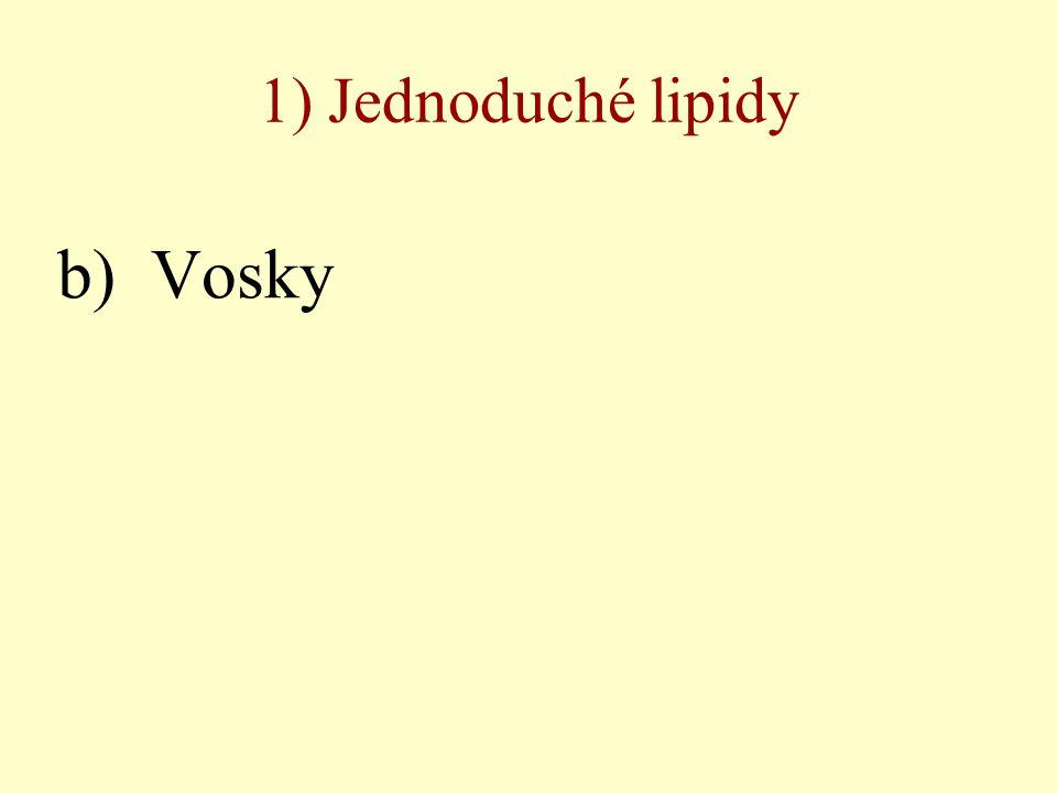 1) Jednoduché lipidy b) Vosky