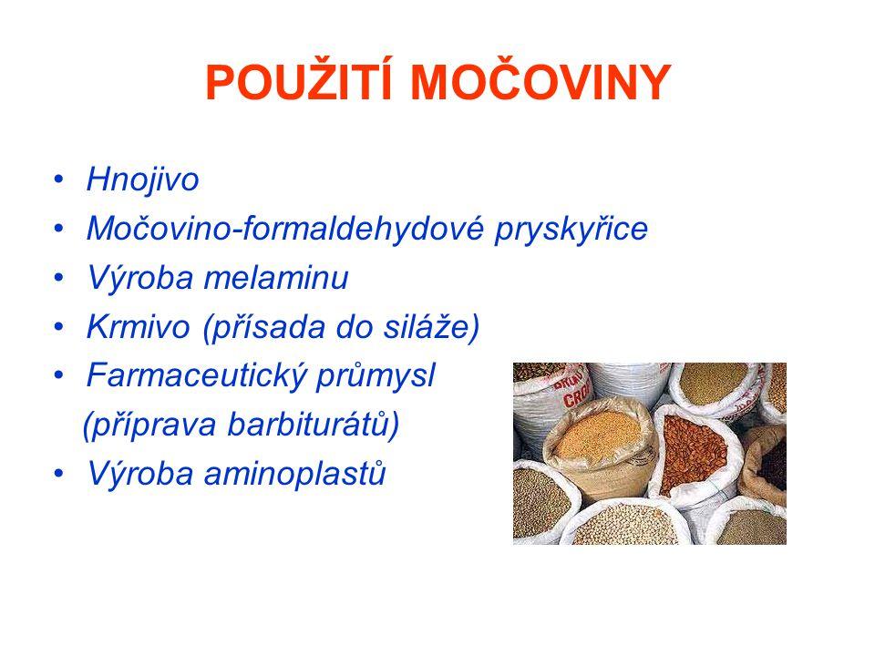 POUŽITÍ MOČOVINY Hnojivo Močovino-formaldehydové pryskyřice