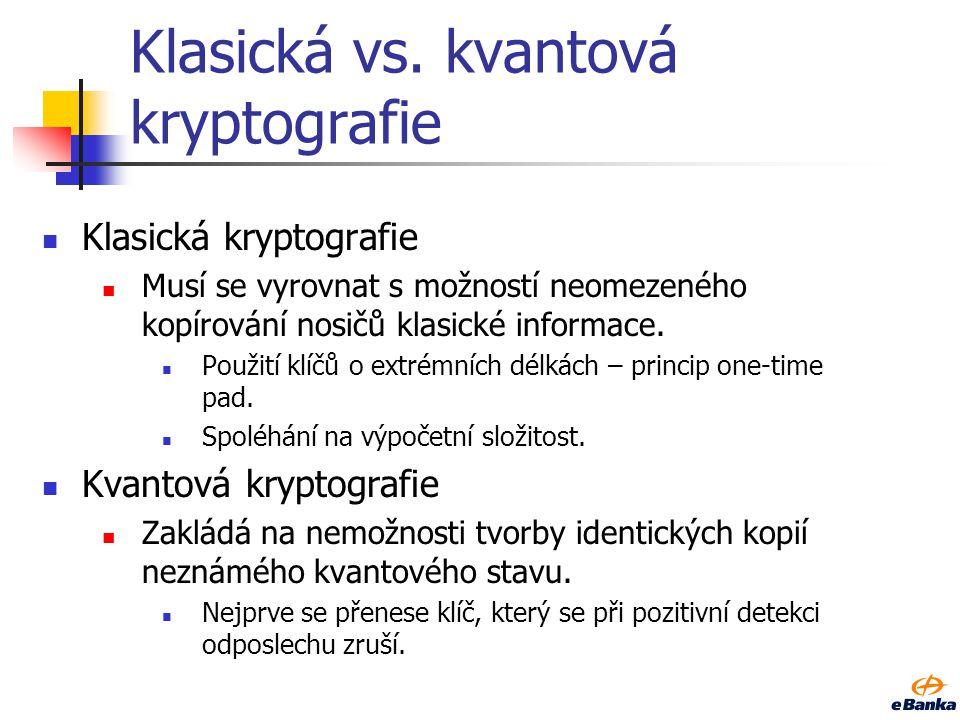 Klasická vs. kvantová kryptografie