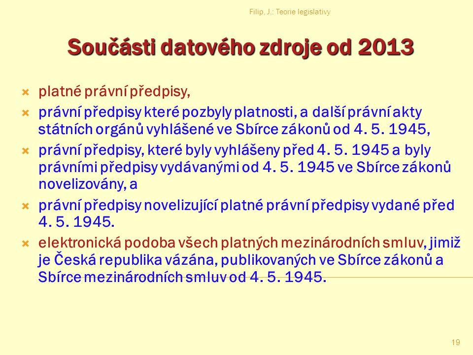 Součásti datového zdroje od 2013