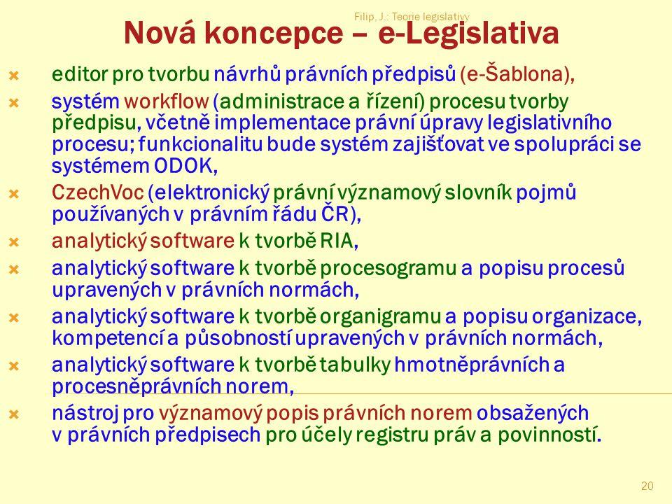 Nová koncepce – e-Legislativa