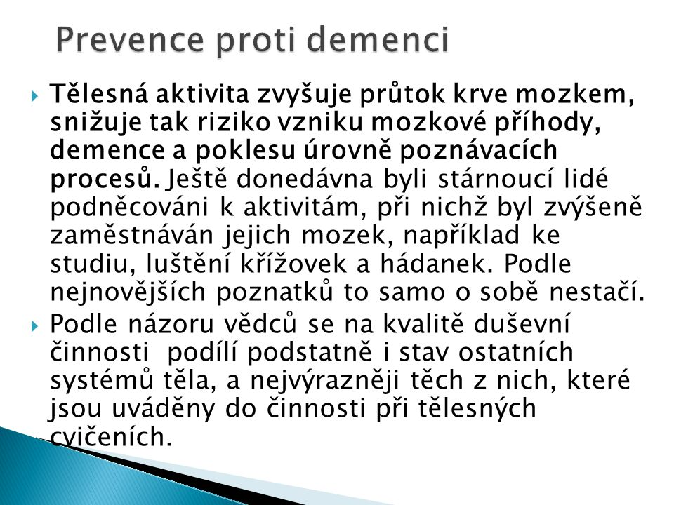 Prevence proti demenci