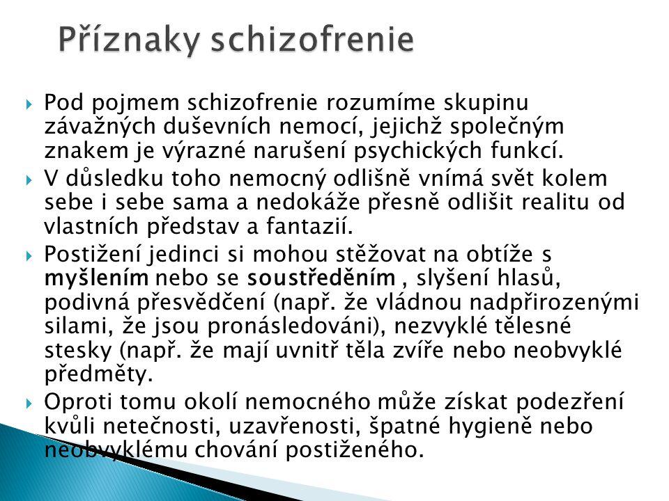 Příznaky schizofrenie