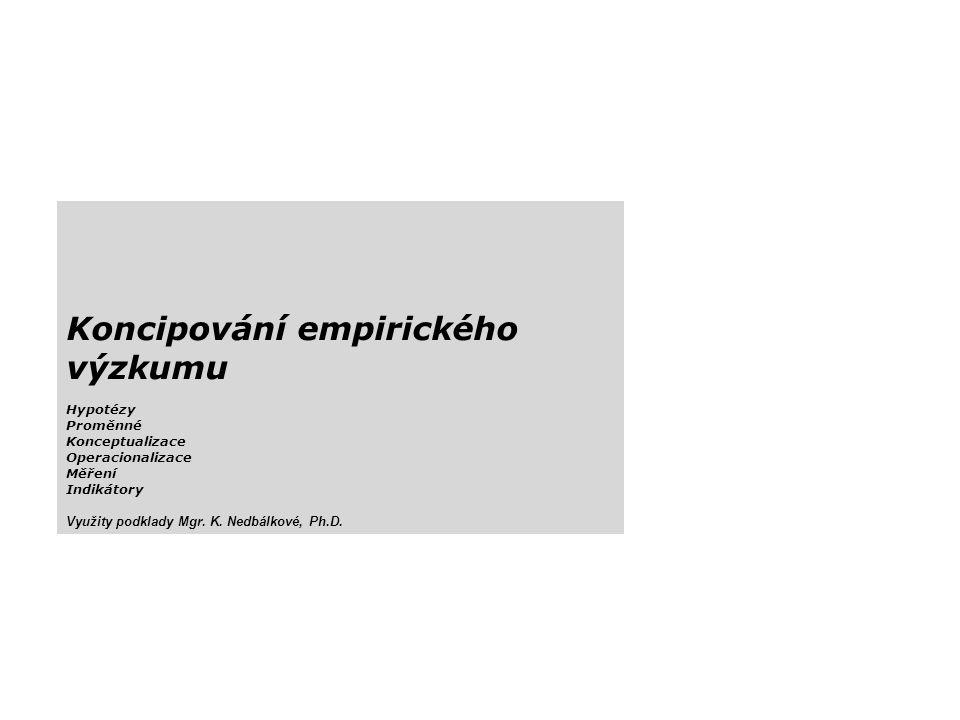 Koncipování empirického výzkumu