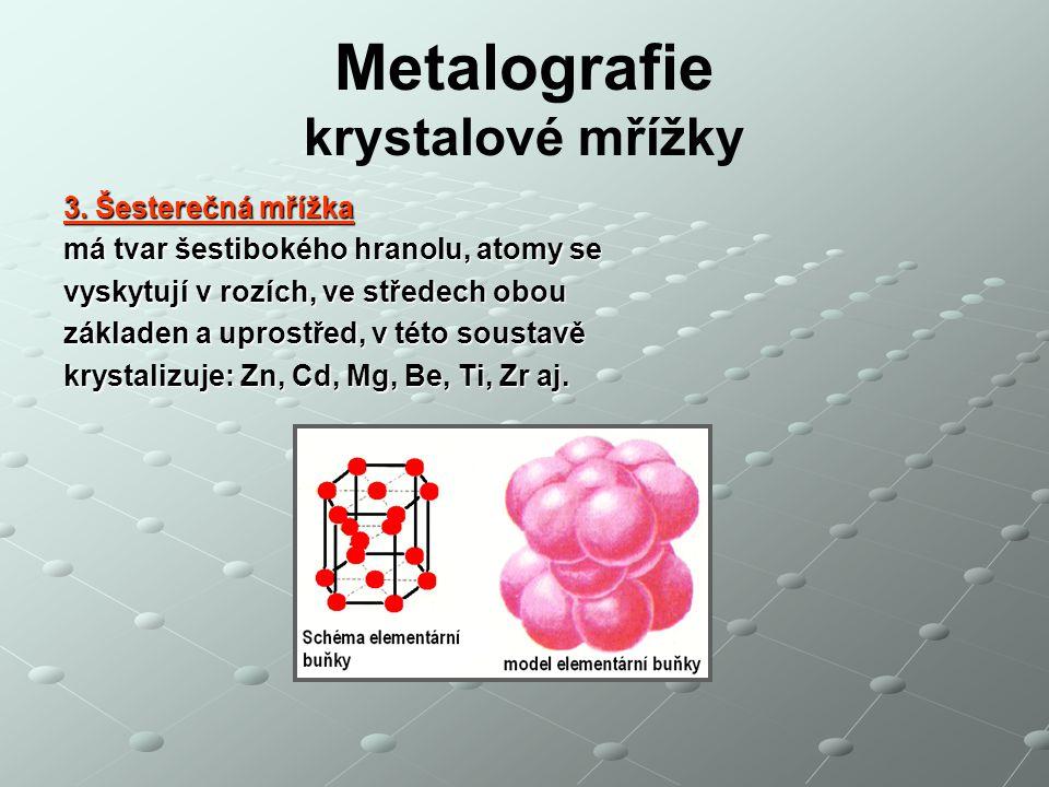 Metalografie krystalové mřížky