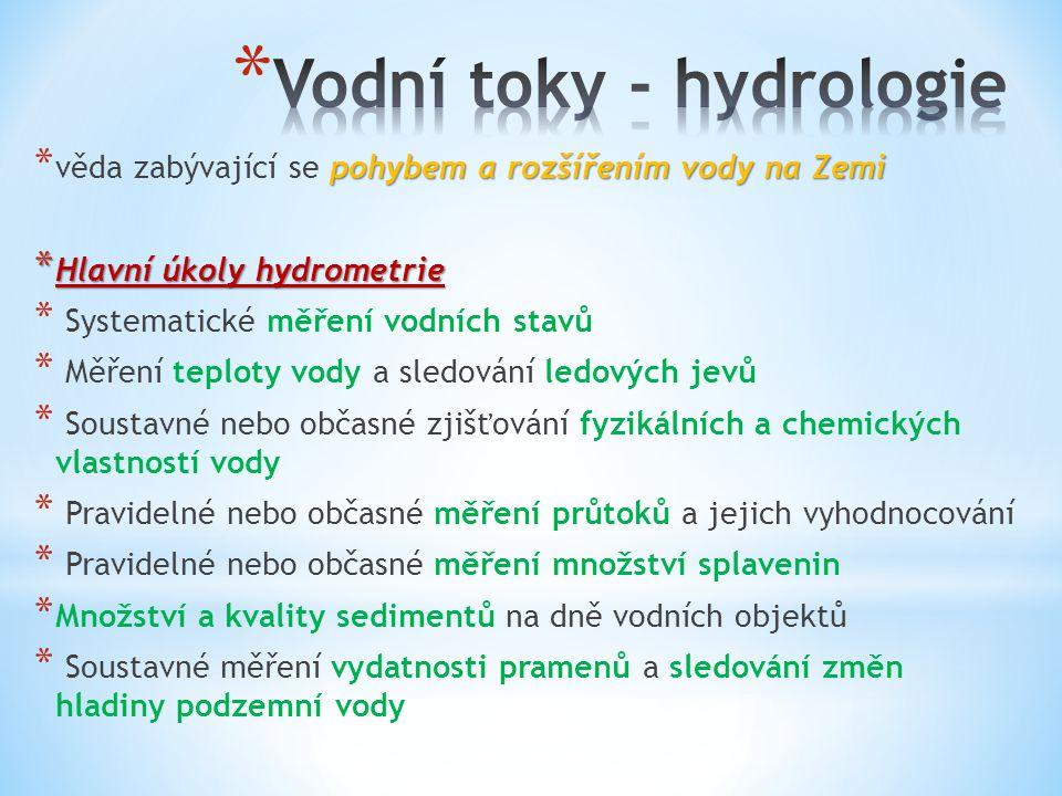 Vodní toky - hydrologie
