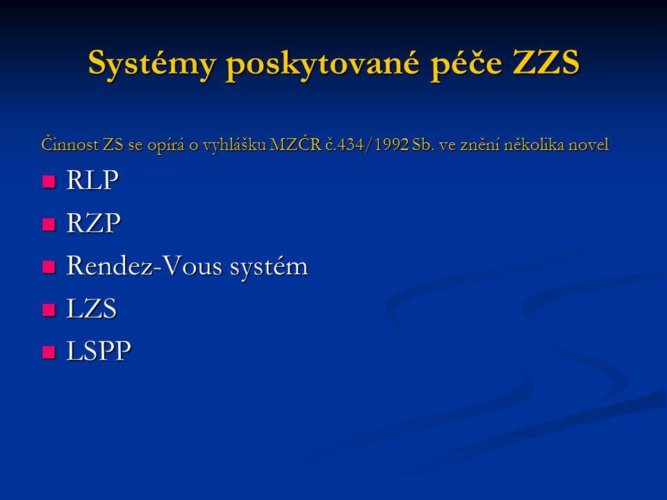 Systémy poskytované péče ZZS
