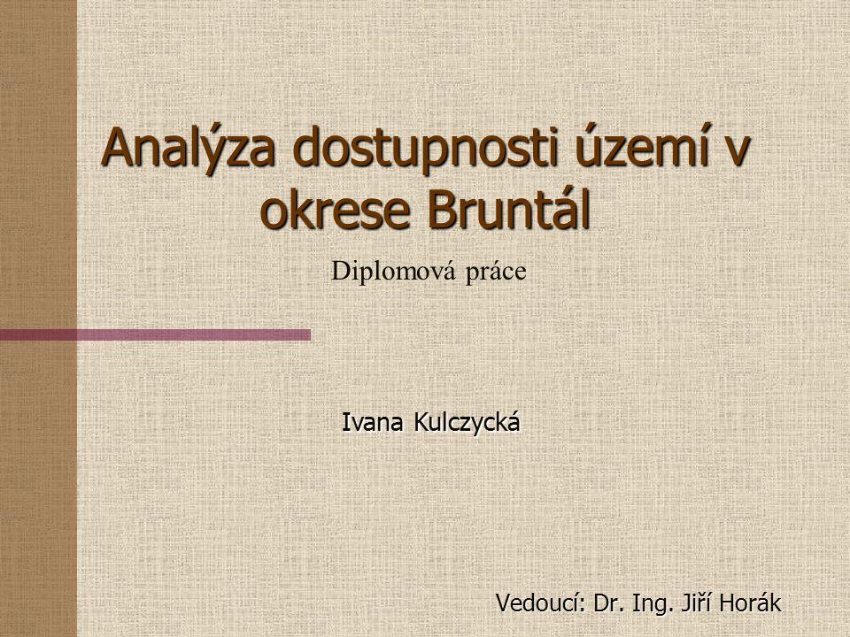 Analýza dostupnosti území v okrese Bruntál