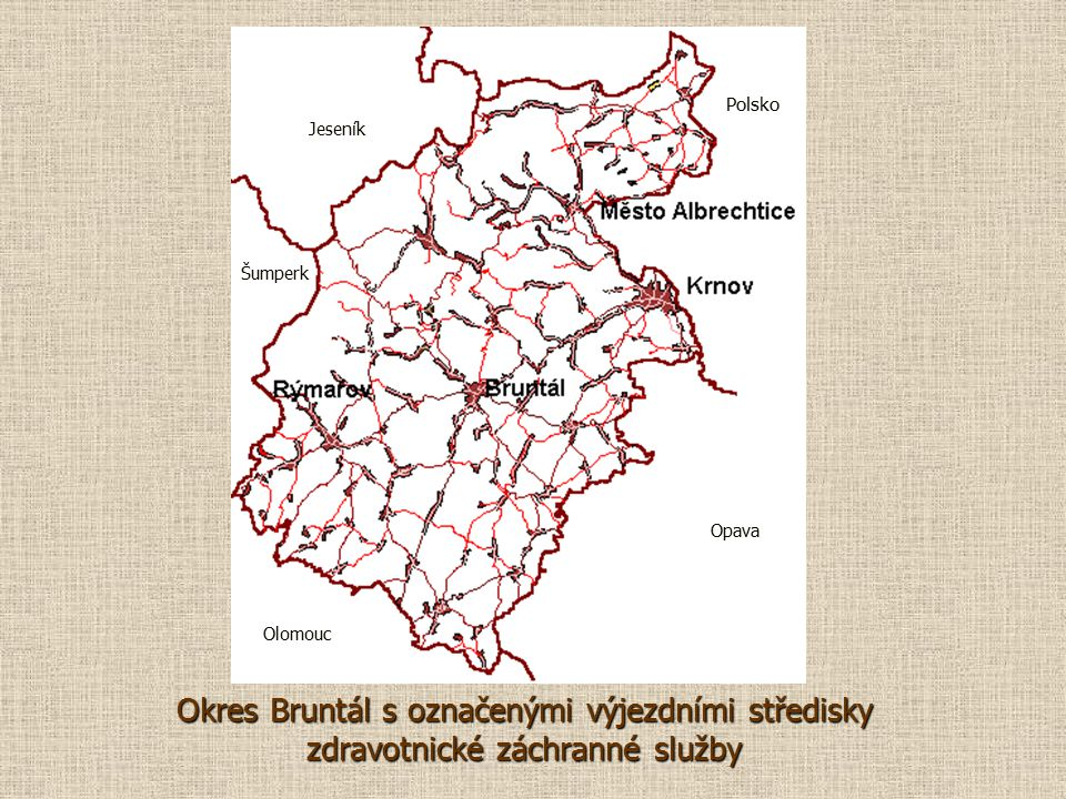 Polsko Jeseník. Šumperk. Opava. Olomouc.