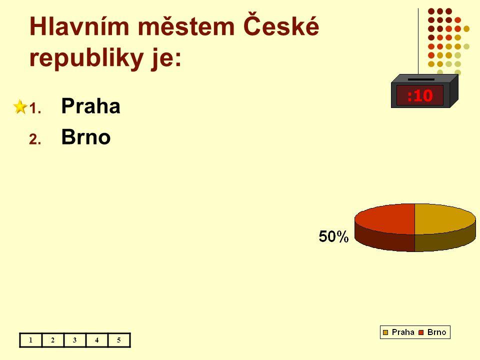 Hlavním městem České republiky je:
