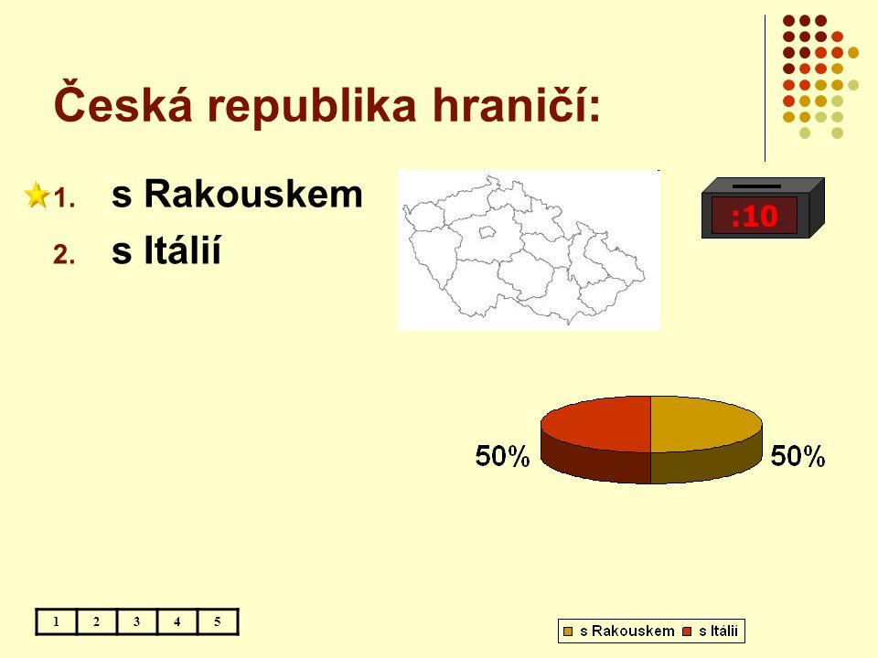Česká republika hraničí:
