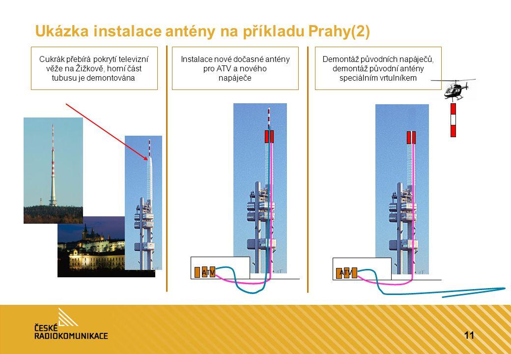 Ukázka instalace antény na příkladu Prahy(2)