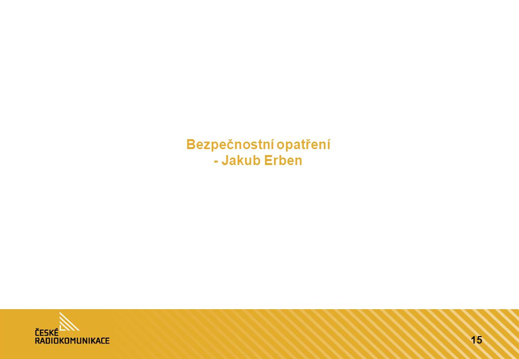 Bezpečnostní opatření - Jakub Erben