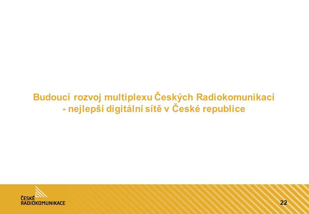 Budoucí rozvoj multiplexu Českých Radiokomunikací - nejlepší digitální sítě v České republice