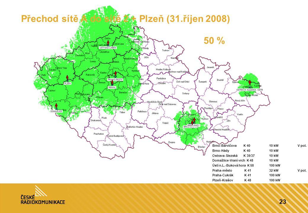 Přechod sítě A do sítě 2 + Plzeň (31.říjen 2008)
