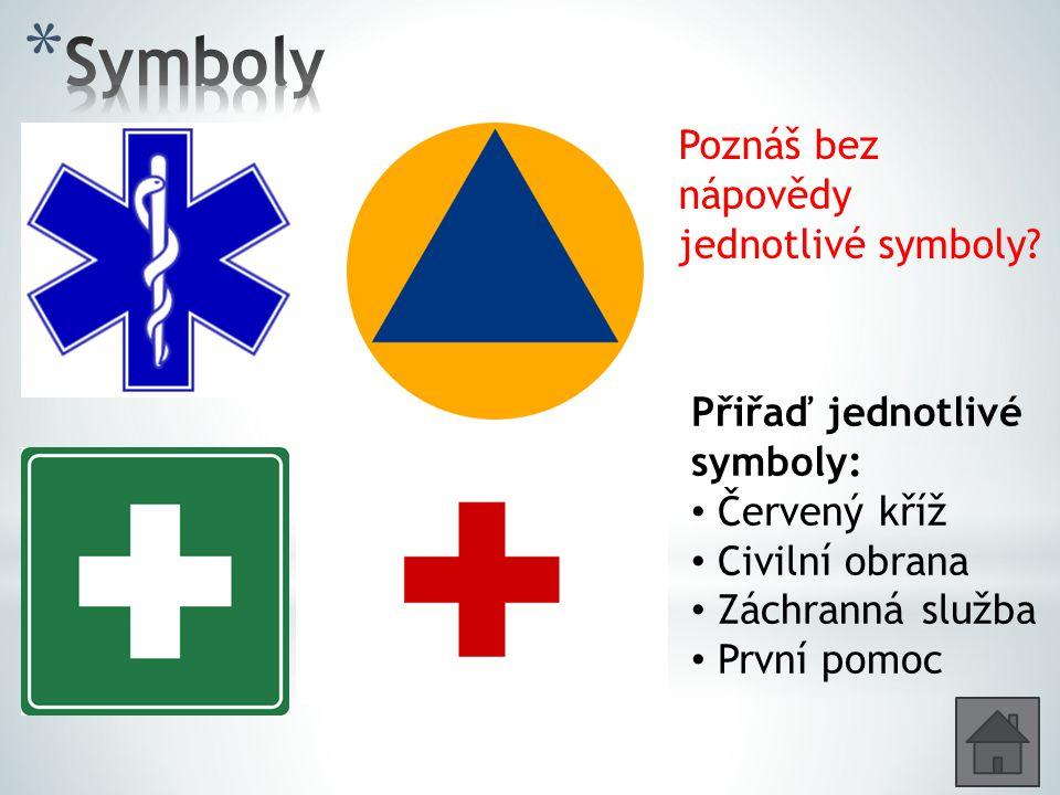 Symboly Poznáš bez nápovědy jednotlivé symboly