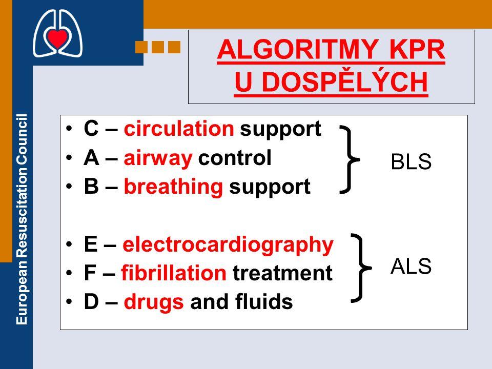 ALGORITMY KPR U DOSPĚLÝCH