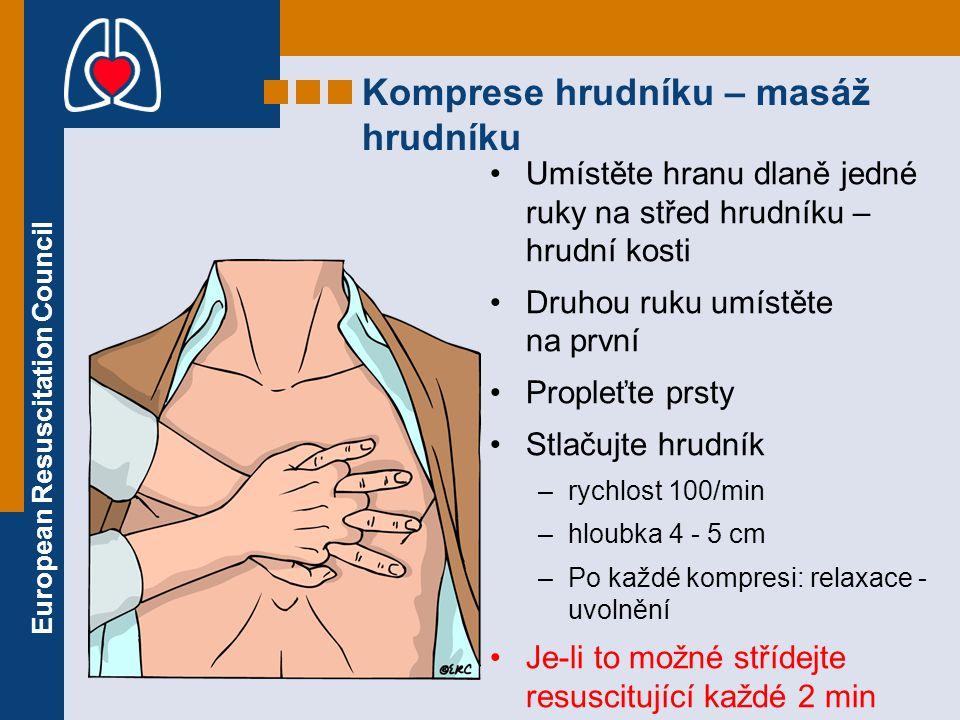 Komprese hrudníku – masáž hrudníku