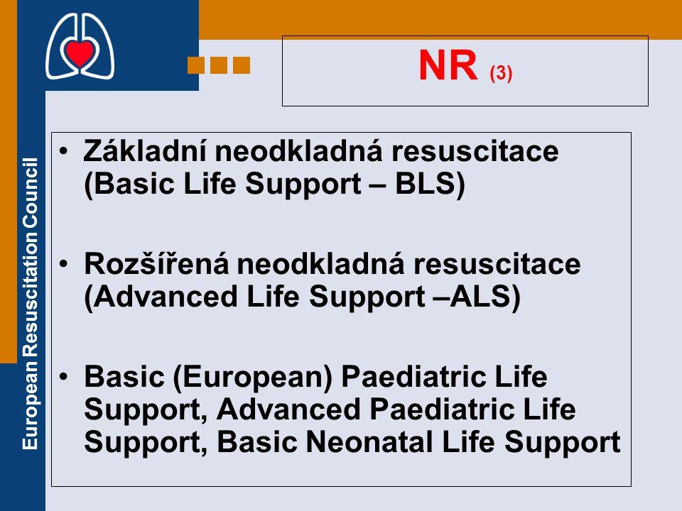 NR (3) Základní neodkladná resuscitace (Basic Life Support – BLS)