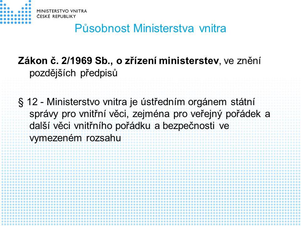Působnost Ministerstva vnitra
